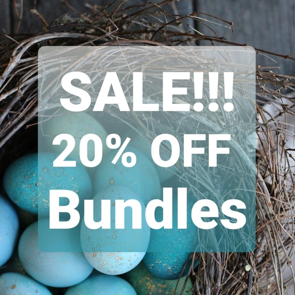 20% OFF BUNDLES of 2 or more items!